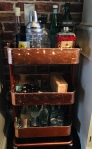 Copper Leaf Drinks Trolley